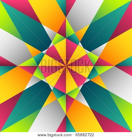 Colorful Vitrage Seamless Pattern