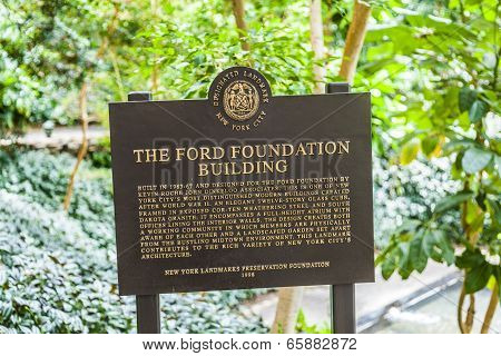 Building of the Ford Foundation in New York