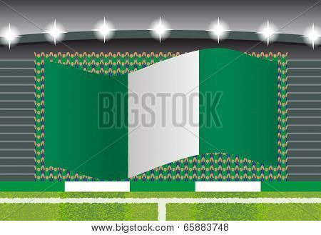 Nigeria football fan cheering