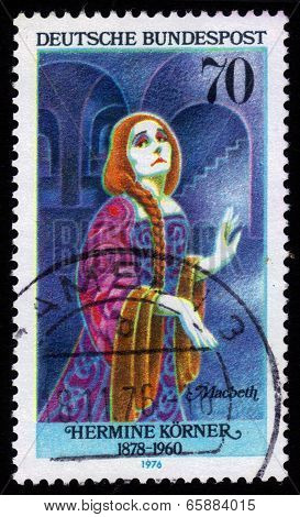 Hermine Korner (1878-1960) As Lady Macbeth