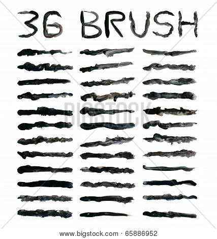 Black Dirty Brushes