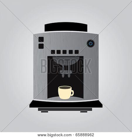 silver coffeemaker espresso machine eps10