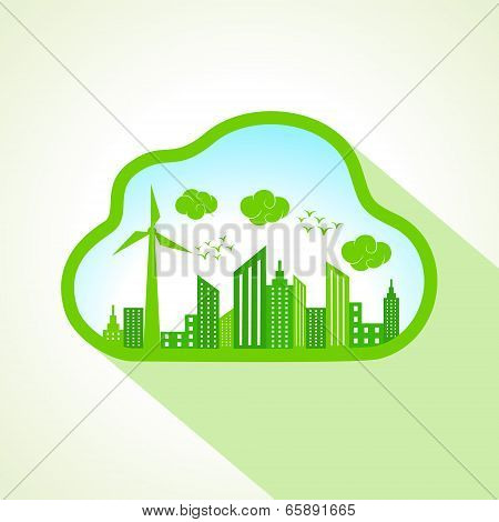 Ecology concept with clouds-cape stock vector