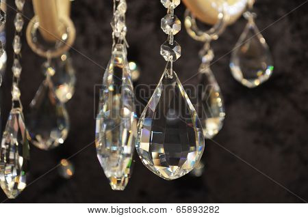 Close Up On The Crystal Chandelier
