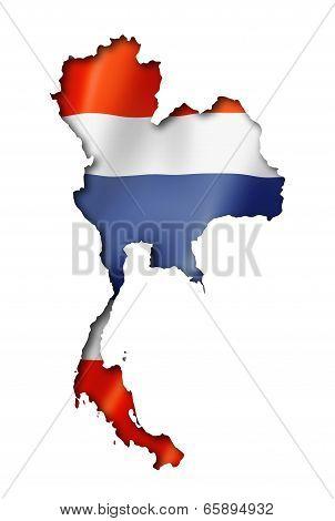Thai Flag Map