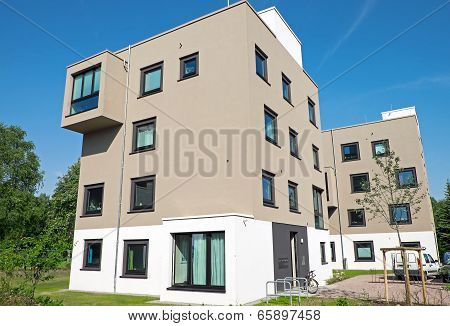 Brown modern apartment houses