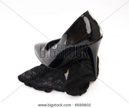 High Heel Shoe With Stocking