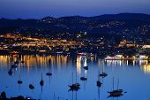 picture of gumbet  - View of Gumbet Bay by night - JPG