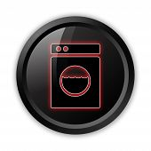foto of laundromat  - Icon Button Pictogram Image Illustration with Laundromat symbol - JPG