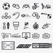 stock photo of offside  - football soccer icons set vector illustration eps10 - JPG