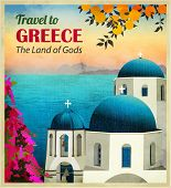 image of church  - Travel to Greece Poster  - JPG