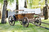 image of ox wagon  - old oxen - JPG