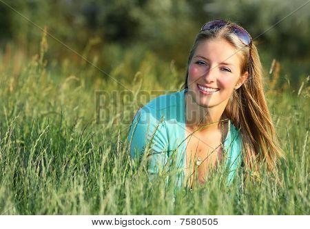 Blond woman portrait