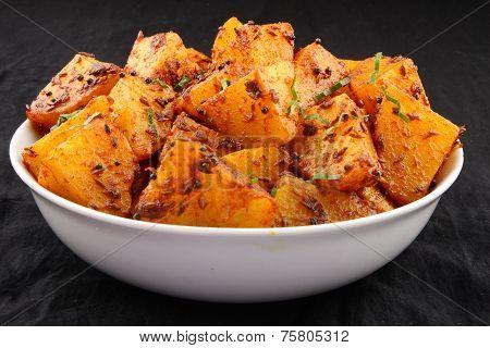 Potato curry dish
