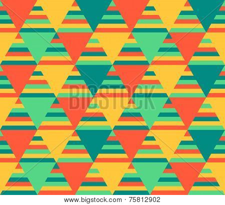 Abstract Background With Triangles