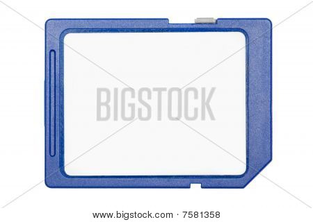 blau sd-Speicherkarte isolated on white background