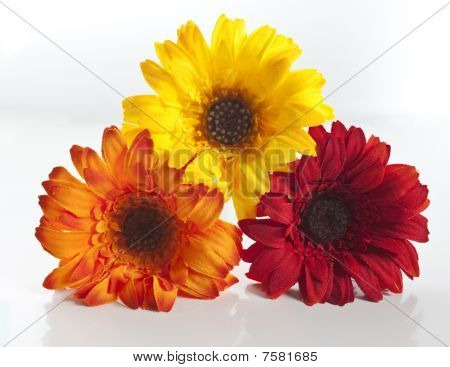 Artificial Flowers Stacked Up