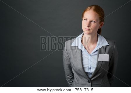 Business Leader With Name Tag