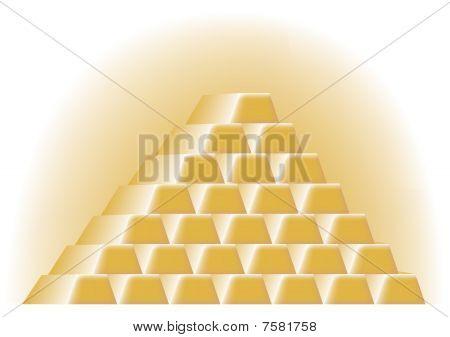 Pyramid of Gold Bars