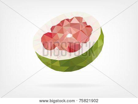 Low Poly Pomelo fruit