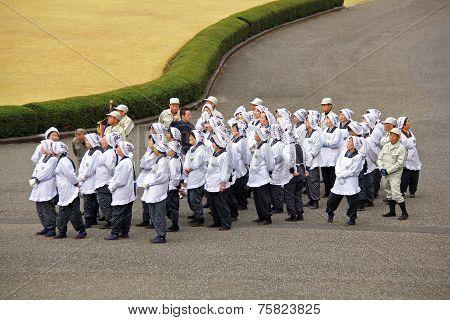 Group Of Senior Japanese Tourists