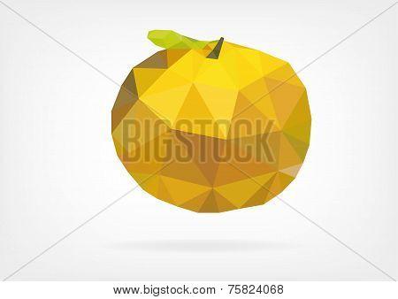 Low Poly Yuzu (japanese lemon)
