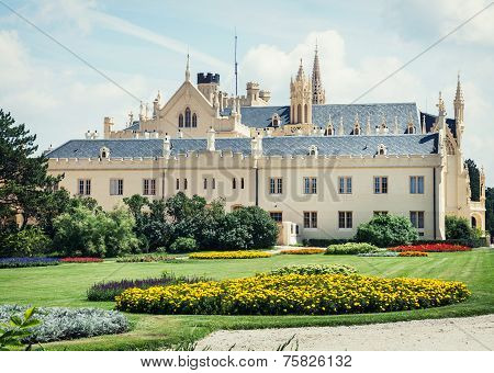 Lednice Castle With Beautiful Gardens