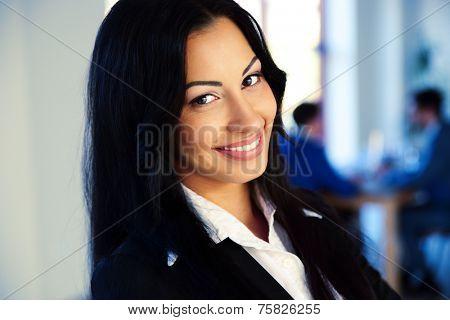 Closeup portrait of a happy businesswoman