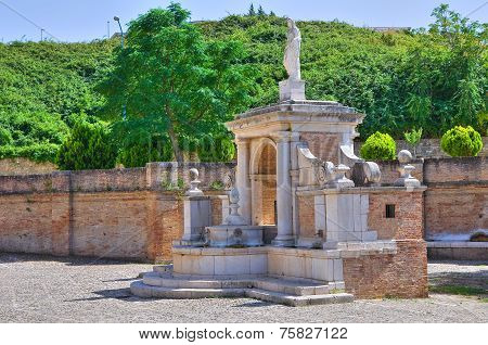 Fountain Cavallina of Genzano di Lucania. Italy.