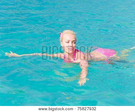 Blonde Woman Graceful Relaxing