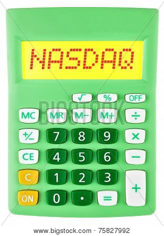 Calculator With Nasdaq On Display