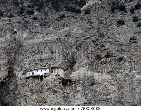 House On A Dry Himalayan Mountain