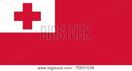 National Flag Of Kingdom Of Tonga
