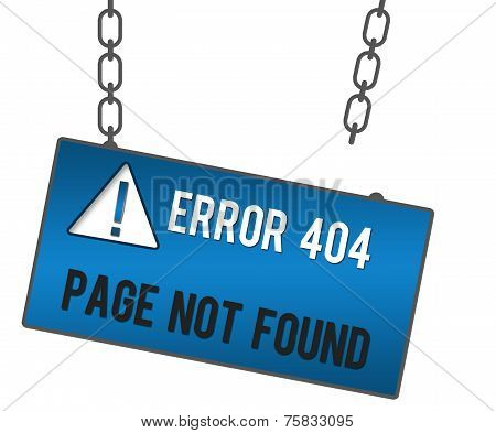 Page Not Found Signboard