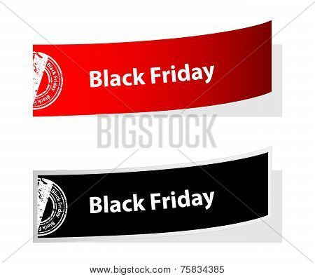 Special Black Friday Labels With Stamp
