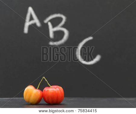 Back To School Concept In A Black Board