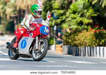 Giacomo Agostini riding Mv Agusta bike