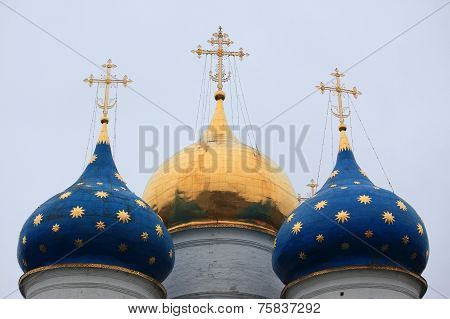 Dormition cathedral in Trinity Lavra of St. Sergius, Russia