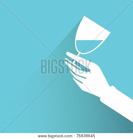 hand holding wine glass