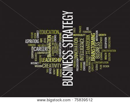 Success business strategy word cloud