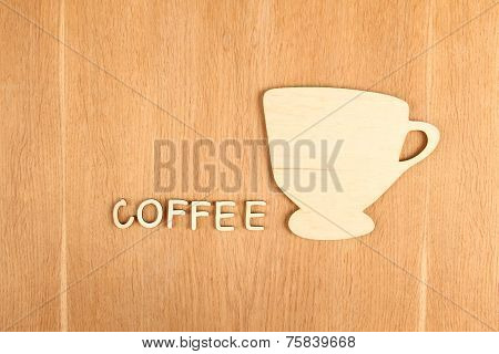Silhouette Of A Wooden Cup