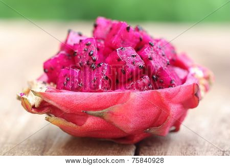 Pieces Of Dragon Fruit