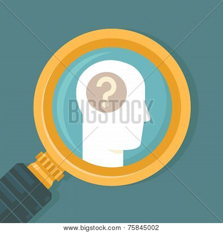 Vector Psychology Concept In Flat Style