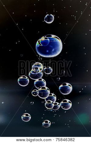 Close-up image of abstract bubbles