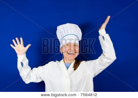 Happy Female Cook