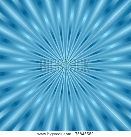 Blue glowing beams background. Vector design