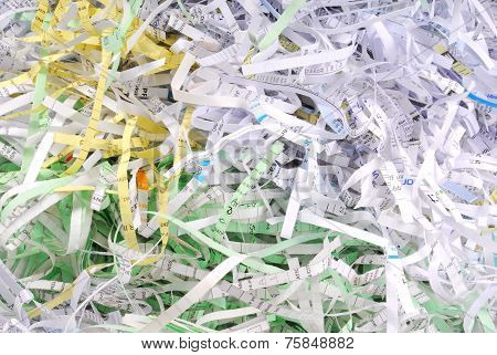 shredded document paper