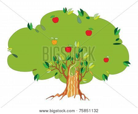 tree with apples