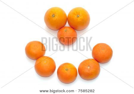 Smiling ripe fruits