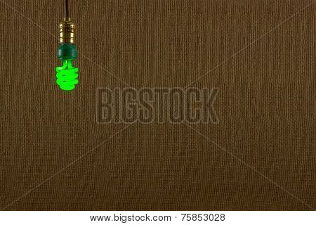 Hanging Green Cfl Bulb Background
